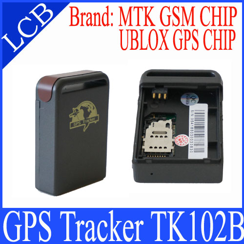 2pcs/lot! Free shipping Mini GPS Track TK102B with Memory Slot and Inbuilt Shock Sensor and Sleep Function(China (Mainland))