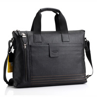 2013 top grade cowhide handbag commercial computer briefcase messenger bag man bag fast shipping