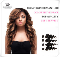 3pcs Lot  Brazilian Virgin Hair  Loose Wave Grade 5A Brazilian Wave Virgin Hair Extensions Color Can Be Dyed DHL Free Shipping