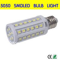 Free shipping 100 pcs/lot  E14 E27 screw lampadas led 44smd 5050 110v/220v 9W corn led light bulb warm / white,led bulb lamp