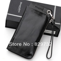 Free shipping Male long design genuine leather wallet wax first layer of cowhide small clutch 302503