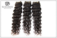 "3pcs Lot  Unprocessed Virgin Brazilian Hair Deep Wave AAAAA Grade Brazilian Deep Wave Natural Color  12-28"" DHL Free Shipping"