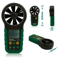 MASTECH MS6252B Digital Anemometer Air Wind Speed Gauge Meter Tester USB Interface with T&RH Sensor
