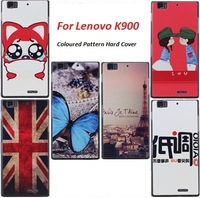 Ultra-thin Coloured  Pattern Plastic Hard Cover For Lenovo Sarmtphone K900