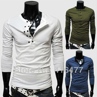 Hot Sell New arrival Men long sleeve t shirts men's O-neck t-shirt