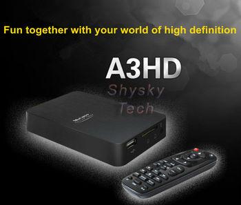 Free shipping Measy A3HD FULL HD Media Player 1080P 2.5 SATA HDD HDMI MKV H.264 USB2.0 host Card Reader