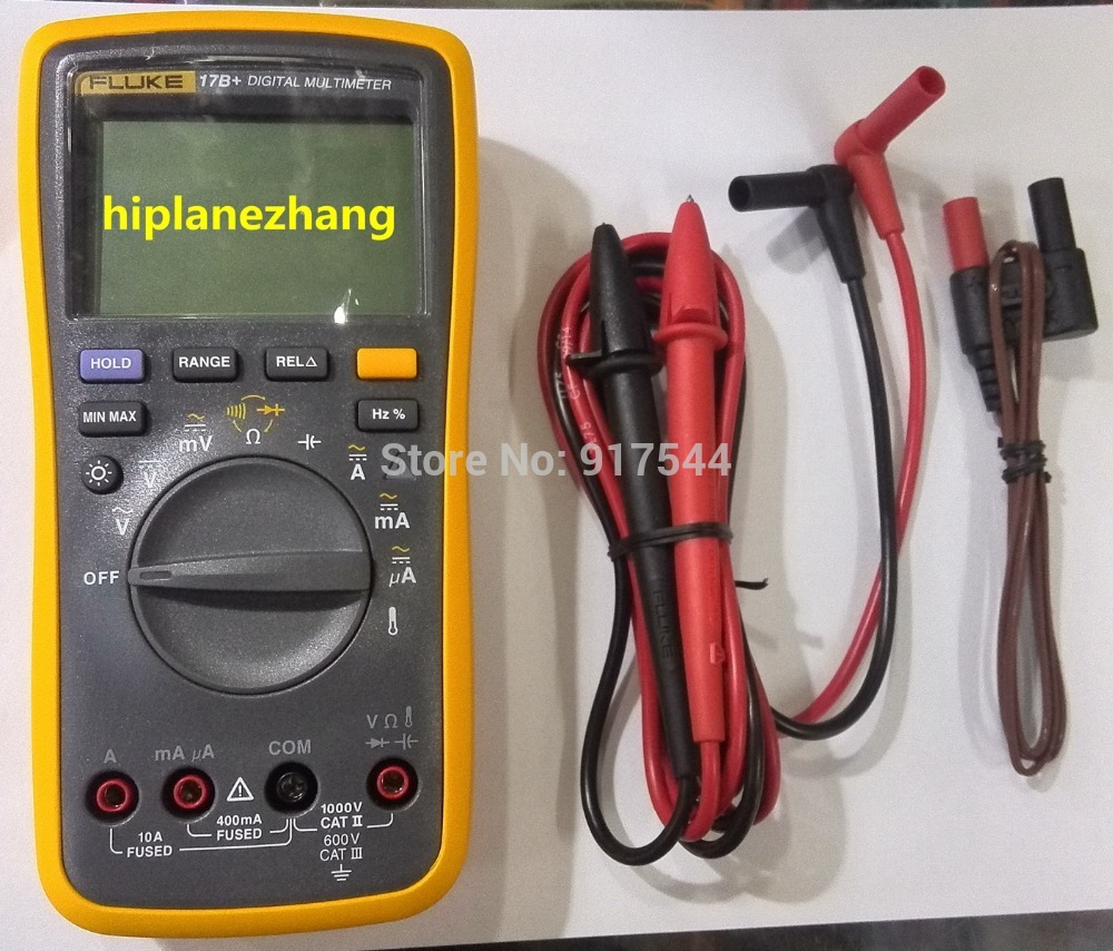 Fluke 17B+ F17B+ Digital Multimeter 4000 Words AC/DC Voltage Current Resistance Frequency Duty Cycle Temperature -55-400C Diode(China (Mainland))