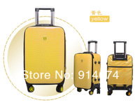 "Free shipping !24"" inch ABS+PC fashion smooth face trolley luggage/travel suitcase with spinner"