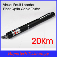 Free Shipping High Quality Pen Style 20Km Visual Fault Locator, 20mw Fiber Optic Cable Tester.
