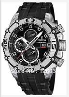 FESTINA TOURCHRONO 2012 Herrenuhren Uhr F16600/2 BIKE Chronograph Herren PU-Band Watch