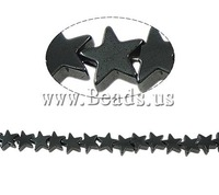 Free shipping!!!Magnetic Hematite Beads,2013 designer brand women, Non magnetic Hematite, Star, black, A Grade, 5x2mm