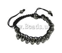 Free shipping!!!Zinc Alloy Shamballa Bracelets,2013 designers for men, with Wax, with rhinestone, nickel, lead & cadmium free