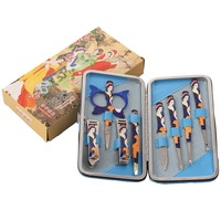 Nail clipper set finger cut manicure set eyebrow scissors nail beauty art toiletry kit set