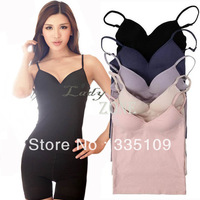 Modal Adjustable Strap Built In Bra Padded Self Mold Bra Tank Top Camisole Cami 17020
