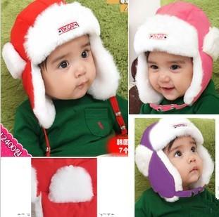 QN-06 1-4 year old Child winter cap Baby hat Winter Ear protector cap Snow cap Thickening Warm children's winter hats kids hats