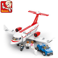 Sluban Aircraft Airplane B0365 Building Block Sets 275pcs Educational DIY Jigsaw Construction Bricks toys for kids children