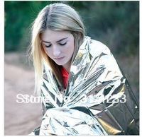 free shipping (30pieces /lot ) Wholesale 210*130CM Waterproof Emergency Survival Foil Thermal First Aid Rescue Blanket
