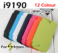 60pcs Flip leather Back cover cases original battery housing case protector for Samsung Galaxy SIV S4 mini I9190 9190 by DHL