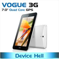 "in stock free shipping 7"" original huawei mediapad 7 vogue 3g tablet pc S7-601u quad core dual camera GPS navigation metal cover"