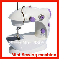 Free Shipping Household electric desktop machine Multi-function Mini Portable Electric Sewing Machine Use Power adapter