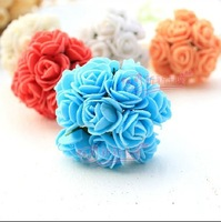 100 pcs 2.5 cm Small decorative flower Foam flowers Artificial flowers With Yarn  PE  DIY flowers Wedding detection new 2014
