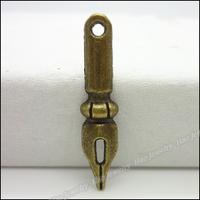 160pcs Vintage Charms Pen Pendant Antique bronze Zinc Alloy Fit Bracelet Necklace DIY Metal Jewelry Findings