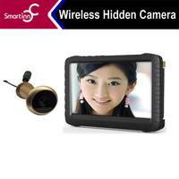 Free shipping 5.8G Wireless Door Peephole Camera DVR 100m Range 90 Degree 5inch Motion Detect Recording