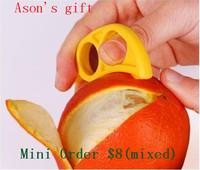 Orange Peeler finger-fit Orange Cutter Fruit Peeling fruit zesters 6pcs/lot