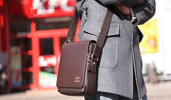 Hot Selling Men's PU Leather Authentic  Shoulder bag
