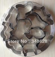 Factory Wholesale 10 sets   Animal Shapes stainless steel Fondant Cake Moulds Cake Decoration