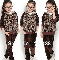 Free Shipping High Quality ! New Hot Drilling Panda Sleeve Leopard Velvet Suit