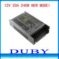 NEW MODEL 12V 20A 240W Switching Power Supply Driver For LED Strip light Display AC100V-240V Input,12V Output Free Shipping