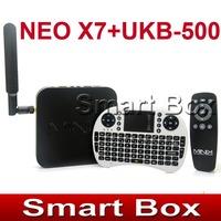 MINIX NEO X7 Quad core RK3188 2G 16G Android 4.2 TV BOX rk3188 mini pc  + MINI English 2.4G  UKB-500 Keyboard with touchpad