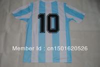 RETRO 1986 mexico world cup argentina home hand of god 10#MARADONA