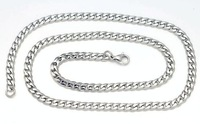 3.0mm Silver Tone Europe Romantic Stainless Steel Dog Tag men Chains Necklaces Key chains 55cm