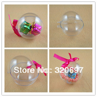 Free DHL Shipping! Dia 8cm Hanging Decorative Clear Glass Balls,Wedding,Parties