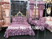 Super Deluxe  European-style three-piece lace bed cover solid