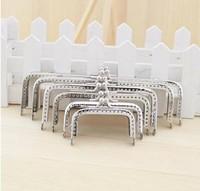 Kisslock Sivler Hasp Metal Purse Frame,Coin Wallet Handbag Metal Frames,Clutch 6sizes/lot