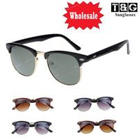 Wholesale Clubmaster Inspired Retro Semi Rim Unisex Sun glasses  Gafas Vintage Sunglasses Women Coating Fashion