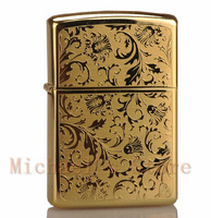 Noble gold color printing lighters, high kerosene fire machine