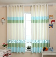 Free Shipping Short Curtains Blackout Curtains For Living Room Bedroom Fabric Curtains Flat Head 2PCS/Lot