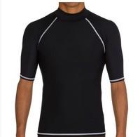 European Version Of The Male Anti-Uv Neoprene Wetsuit Surf Sunscreen Short-Sleeve Top Sun Protection Swimwear