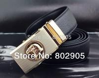 2014 spring cintos men belt Brand new Hight quality leather belts man Black color Free shipping