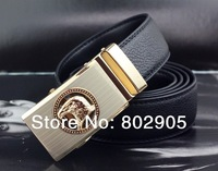 2013 men's belt Brand new Hight quality leather belts man Black color Free shipping