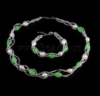 Free shipping!!!Natural Cultured Freshwater Pearl Jewelry Sets,clearance sale with free shipping, bracelet & necklace