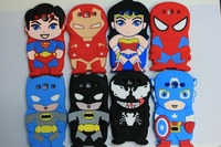 For Samsung Galaxy S3 I9300 3D super Batman Spider Hero Iron man venom Captain American Soldier Cute Soft Silicone Case Cover