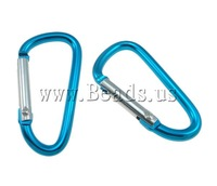 Free shipping!!!Aluminum Carabiner Keyring,Brand, Letter, painting, solid color, mixed colors, 45x25mm, 100PCs/Lot, Sold By Lot