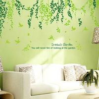 1 Set High Quality Green Vine Sofa Background Wall Sticker & Dream's Home Decor & Removable PVC Environmental Protection Sticker