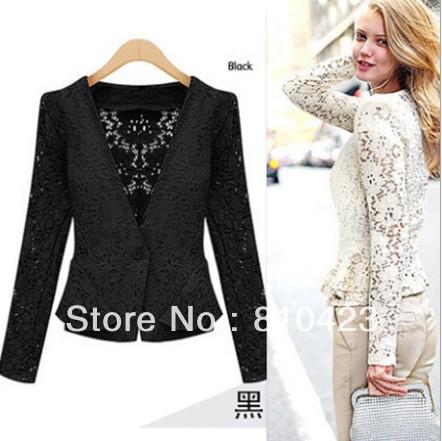 2013-New-Arrival-Women-s-Fashion-Autumn-Black-White-Lace-Hollow-Out