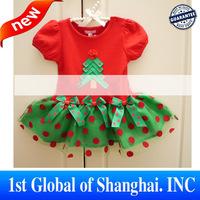 2013 New Children's Christmas Costumes Children Clothes Suit Girls,Christmas Dress Girls Flower Tutu Dress Free Shipping